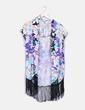 Kimono floral con flecos Suiteblanco