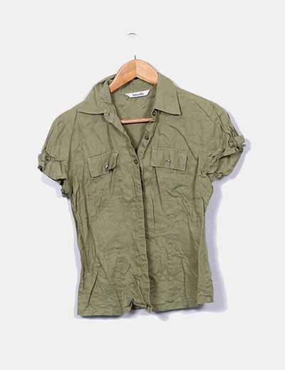 Chemise verte à manches courtes Tintoretto
