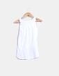 Blusa blanca combinada con paillettes NoName
