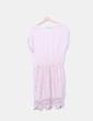 Vestido color nude detalle crochet NoName