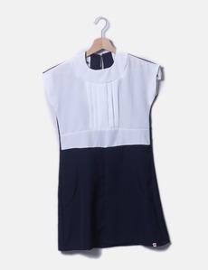 4b315543ce1 Vestido bicolor de manga corta Kling