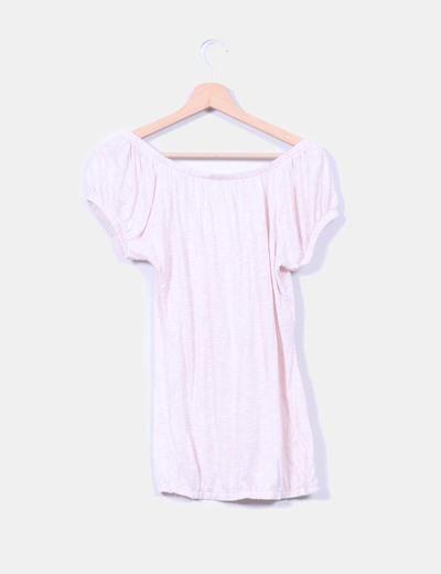 Blusa rosa palo jaspeada