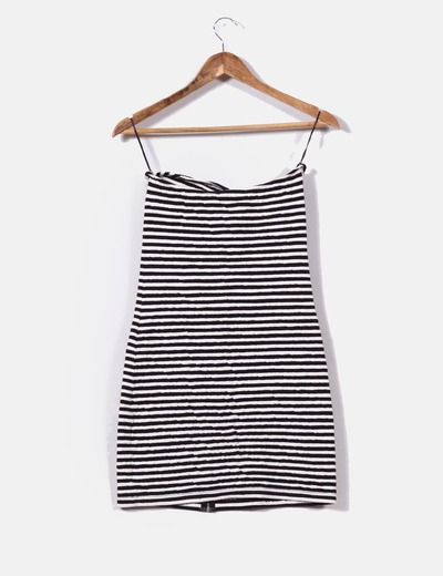 Mini vestido texturizado de rayas