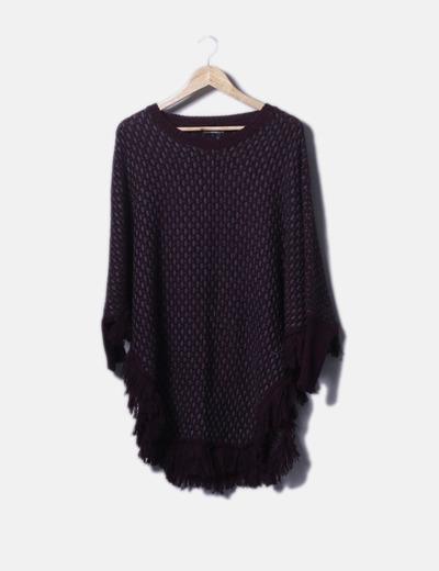 Jersey tricot jaspeado efecto poncho