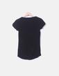 Camiseta negra print Bershka