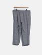 Pantalón baggy cuadros gris Zara