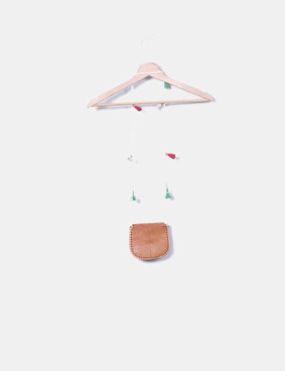 Bolso de cuero mini combinado