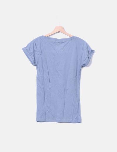 Camiseta gris print corazon