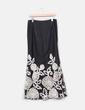 Falda larga negra con flores Pasion