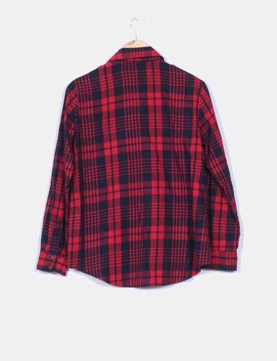 9d159aeac4 Zara Camisa de cuadros negra y rojo (descuento 64%) - Micolet
