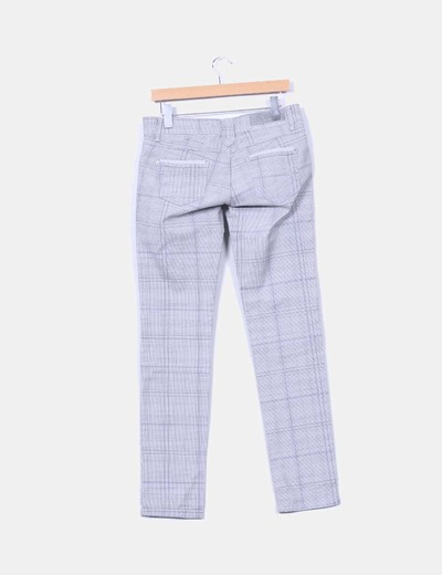 Pantalon gris de cuadros
