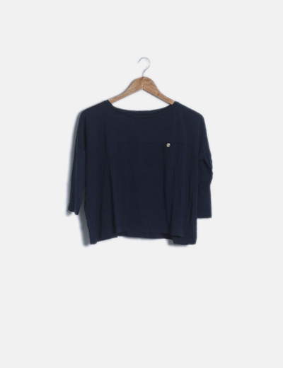 Camiseta manga larga azul