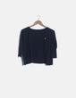 Camiseta manga larga azul Pull&Bear