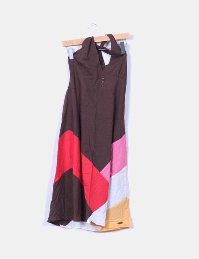 Vestido halter colorblock Protest