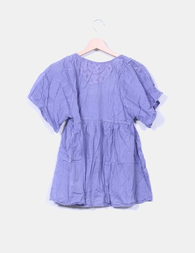 Blusa color malva