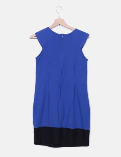 Vestido pichi azul gargantilla