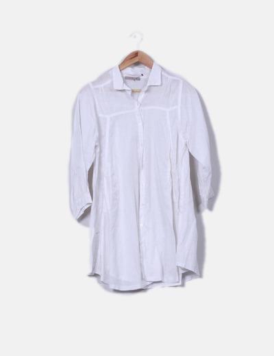 Camisola de lino blanca oversize Fashion Elle