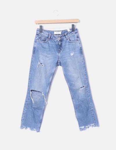 Jeans déchirés en lambeaux Mango
