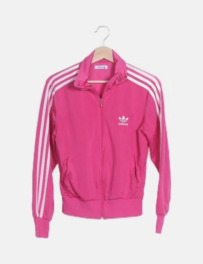 Chaqueta rosa deportiva print logo