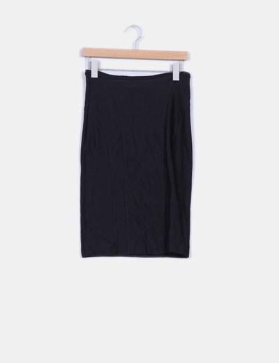 Falda alta tubo negro elástica Mango