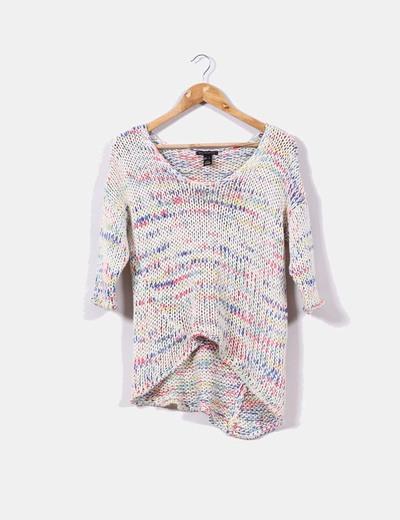 Suéter ganchillo multicolor