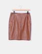 Falda marrón piel Uterqüe