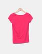 Camiseta rosa fucsia con botones Pimkie