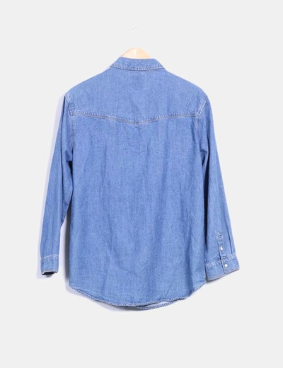 Camisola oversize denim azul medio