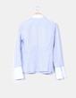 Camisa de rayas azules escote tablas Massimo Dutti
