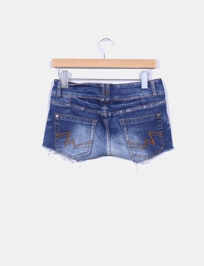 Shorts denim azul medio