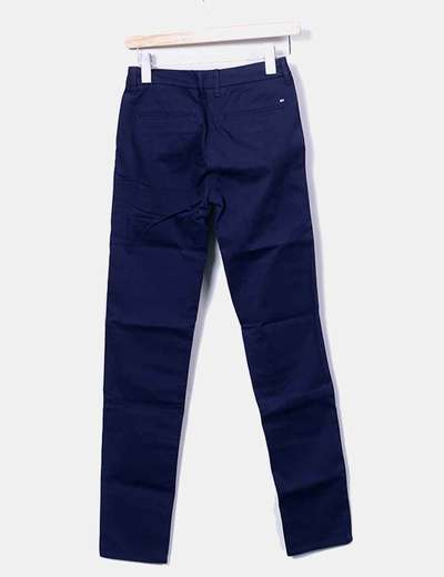 Pantalon pitillo azul marino