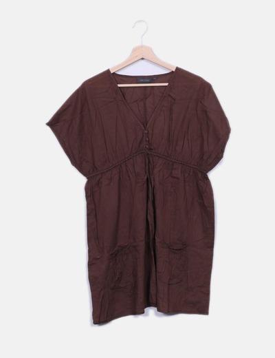 Robe marron à poches Kiabi