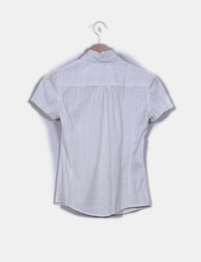 Camisa blanco roto texturizada