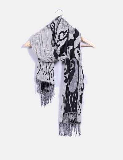 Foulard bicolor con estampado NoName