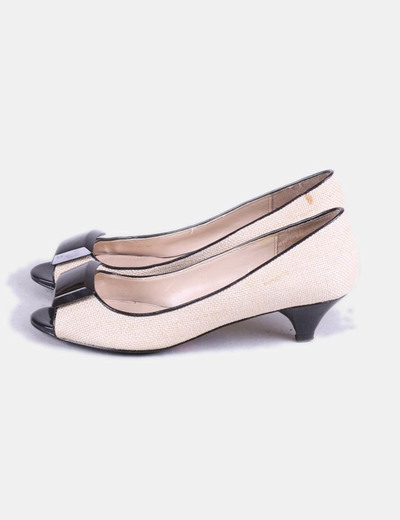 Zapatos  rafia broche marrón