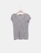 Camiseta punto gris Massimo Dutti
