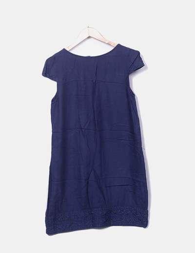 seleccione para auténtico nueva apariencia gran surtido Vestido azul marino bordado