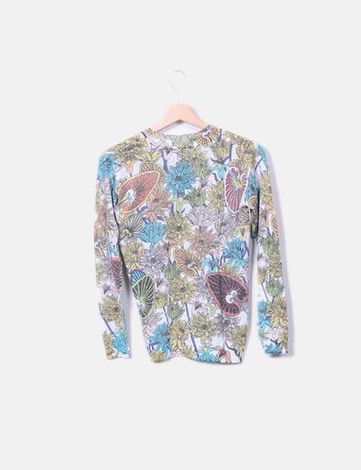 Jersey floral glitter