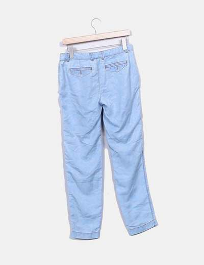 Jeans denim estampado