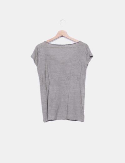 Camiseta punto gris
