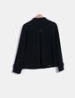 Abrigo negro de paño  Amisu