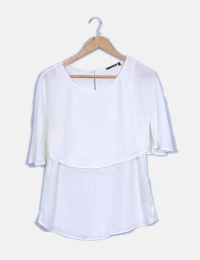 Blusa blanca fluida