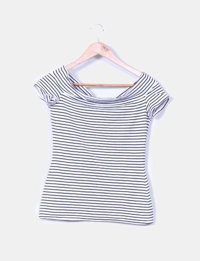 Camiseta de rayas con escote barco Fórmula Joven
