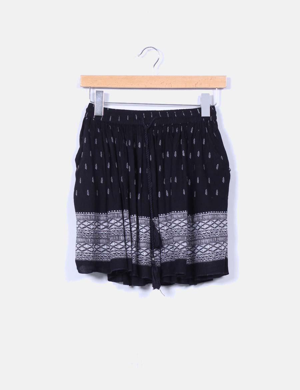 b480664e2 Faldas estampada online baratas evasé Mango Mini falda negra qwCTXE ...
