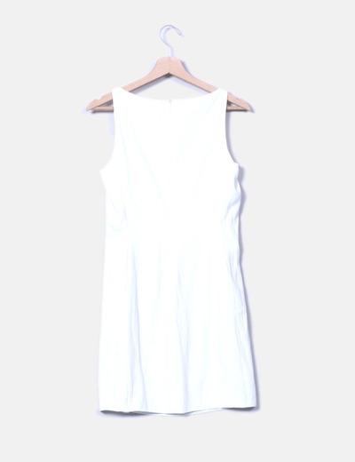 Vestido corto blanco zara