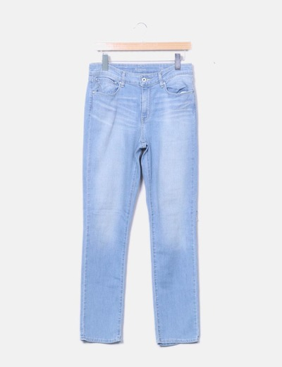 Jeans denim slim celeste