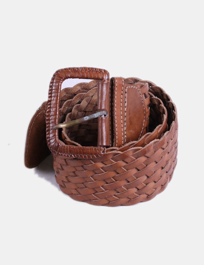 Accessorize Cinturón ancho marrón trenzado (descuento 71%) - Micolet 67d265710a68