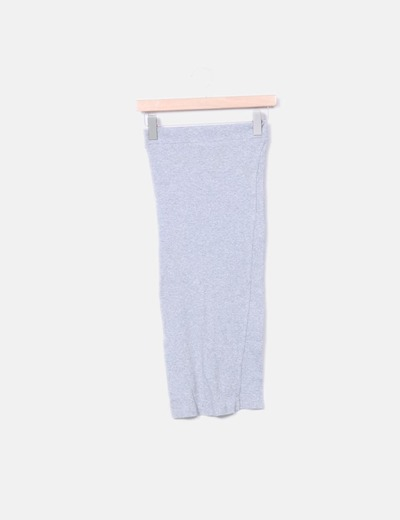 Falda tubo gris