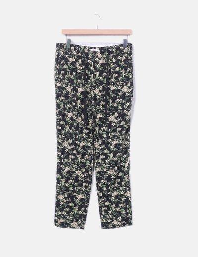 Pantalón fluido floral