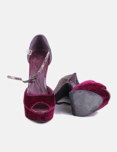 Combinada Morada Morada Morada Glitter Sandalia Sandalia Combinada Combinada Glitter Sandalia X08OPknw
